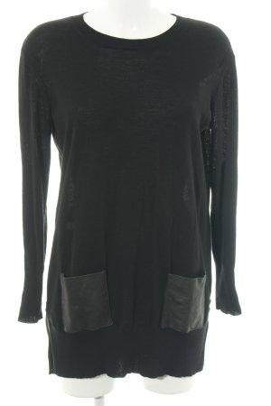 DKNY Longpullover schwarz Casual-Look
