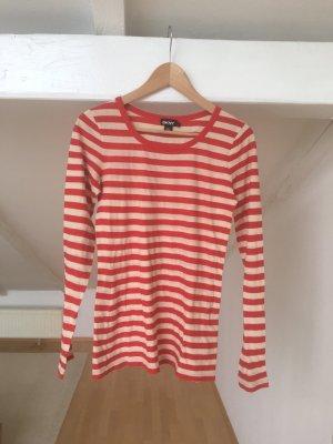 DKNY Longshirt, rot beige geringelt