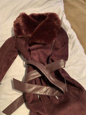 DKNY Cappotto in eco pelliccia bordeaux-rosso mora