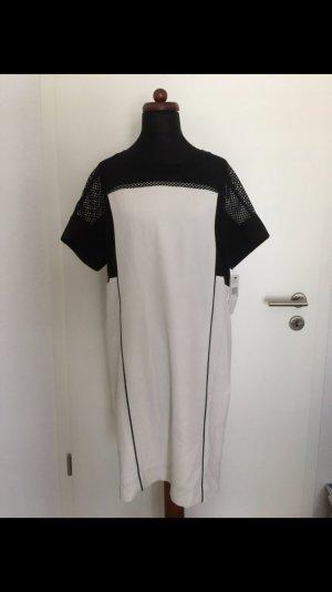 DKNY Mesh Kleid Shirtdress weiß schwarz