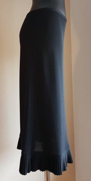 DKNY Falda de talle alto negro rayón