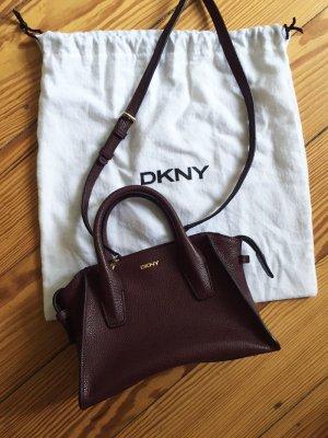 DKNY Mini Chelsea Handtasche beet red dunkelrot rot - WIE NEU