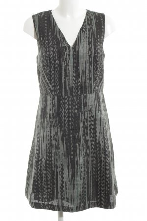 DKNY Minikleid schwarz-hellgrau abstraktes Muster Business-Look