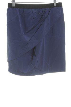 DKNY Minirock dunkelblau-schwarz Glanz-Optik