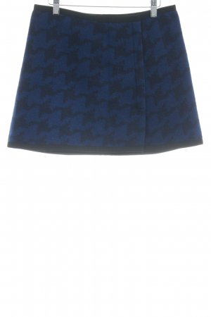 DKNY Minifalda azul oscuro-negro estampado de pepita estilo «business»