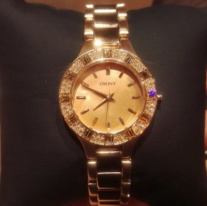 dkny ny8486 armbanduhr damenuhr neu ungetragen rosé