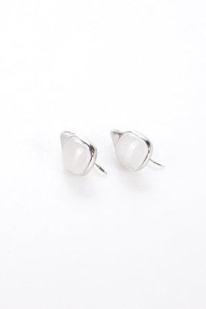 DKNY Ohrhänger weißer Stein
