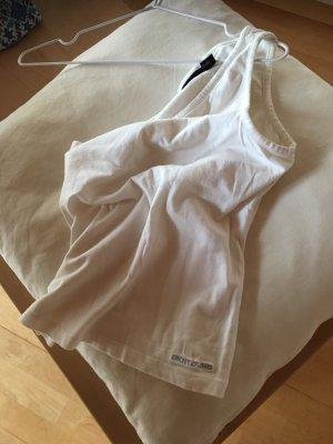 DKNY One-Shoulder Sporty-Shirt, weiß Gr. S