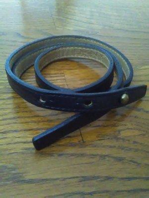 DKNY Cintura di pelle nero Pelle