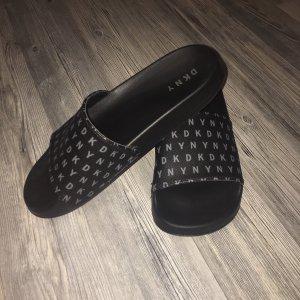 DKNY Zuecos negro-gris