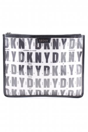 DKNY Pochette nero-bianco modello monogramma stile casual