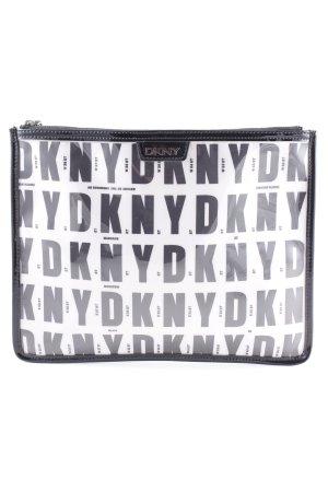 DKNY Pochette schwarz-weiß Monogram-Muster Casual-Look