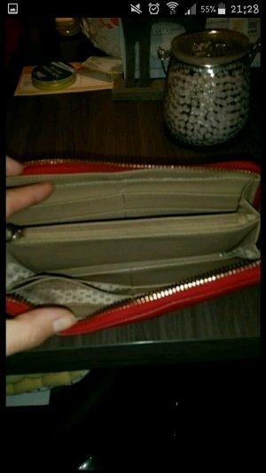 DKNY Portemonnaie rot Leder