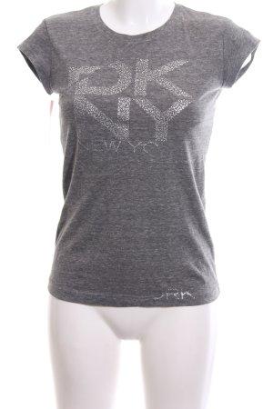 DKNY Print-Shirt hellgrau meliert Casual-Look