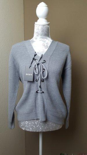DKNY Pullover mit Korsettschnürung