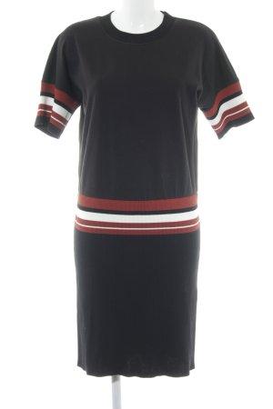 DKNY Abito maglione motivo a righe stile casual