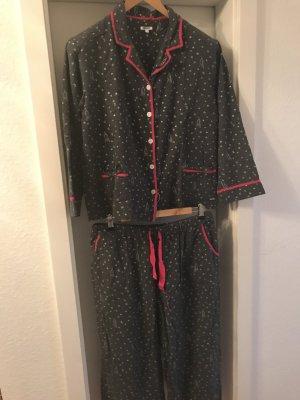 DKNY Pyjama City & Stars grau-silber-magenta