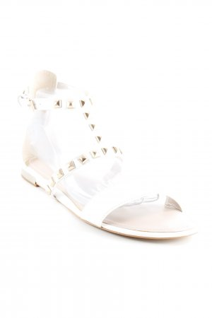 DKNY Strapped High-Heeled Sandals white casual look