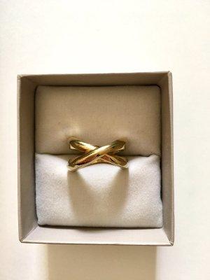 DKNY Ring Edelstahl goldfarben Gr. 17