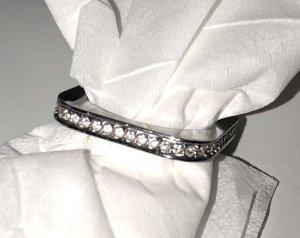 DKNY Ring Silber Edelstahl Steel by Donna Karan New York Größe 18  eckig