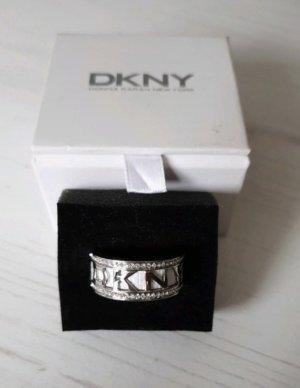 DKNY Bague en argent blanc-argenté