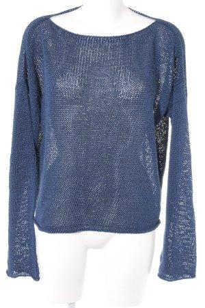 DKNY Rundhalspullover blau Casual-Look