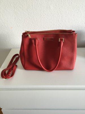 DKNY Borsa larga rosso scuro-rosso mattone Pelle