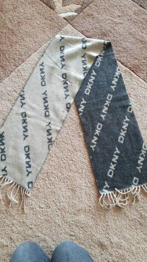 DKNY Sciarpa di lana grigio scuro-beige