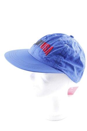 DKNY Schirmmütze blau Schriftzug gestickt Casual-Look