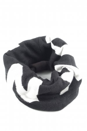 DKNY Tube Scarf black-white printed lettering casual look