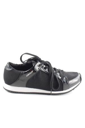 DKNY Schnürschuhe schwarz-weiß Casual-Look