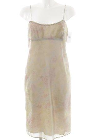 DKNY schulterfreies Kleid florales Muster Lingerie-Look