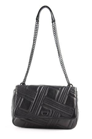 """DKNY Sac porté épaule """"Allen LG Flap Shoulder Bag Black/Gold"""" noir"""