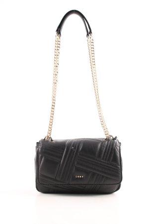"DKNY Schultertasche ""Allen MD Flap Shoulder Bag Black/Gold"" schwarz"