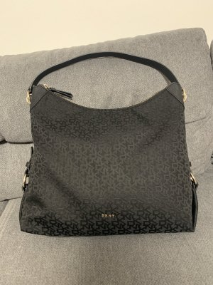 DKNY Sac porté épaule noir-argenté polyester