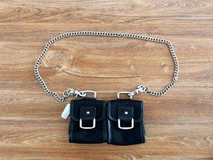 DKNY Minitasje zwart-zilver