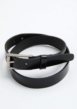 DKNY schwarzer Ledergürtel