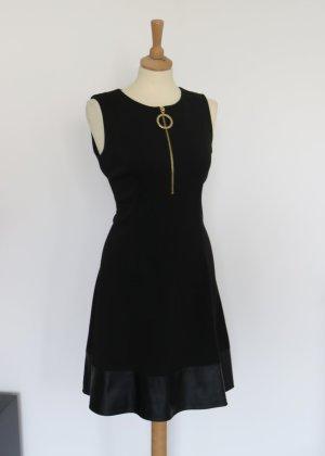 DKNY Vestido línea A negro-color oro