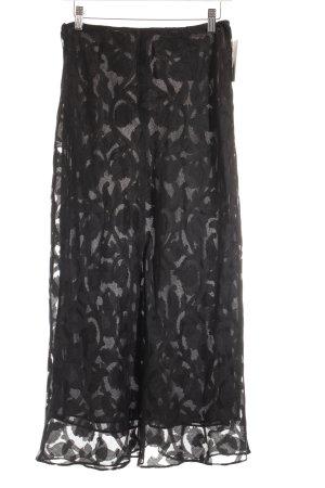 DKNY Seidenrock schwarz Ornamentenmuster extravaganter Stil