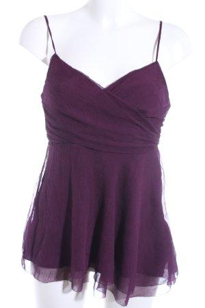 DKNY Top in seta marrone-viola elegante