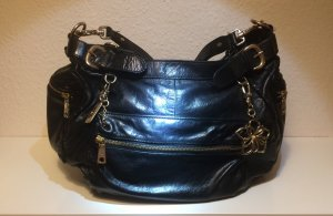 DKNY shiny black leather bag