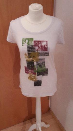 DKNY Shirt weiß teilweise durchsichtig