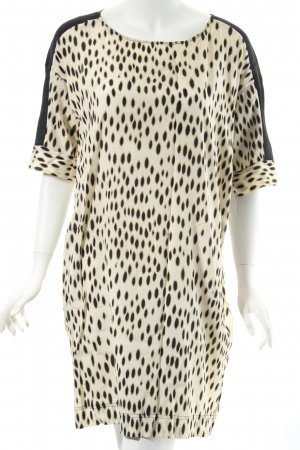 DKNY Robe t-shirt beige clair-noir motif animal