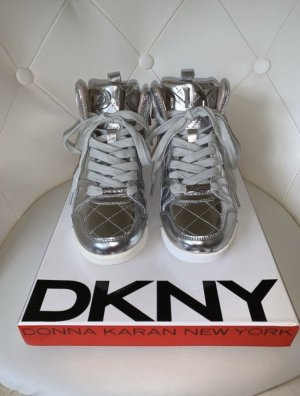 DKNY High Top Sneaker silver-colored