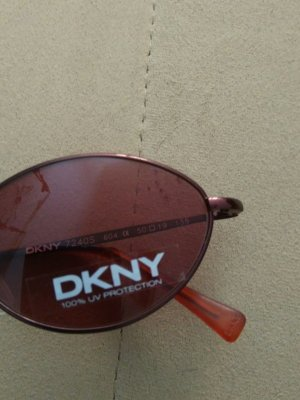 DKNY Oval Sunglasses brown