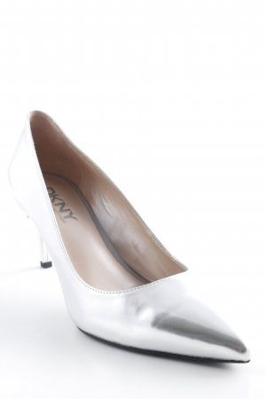 DKNY Spitz-Pumps silberfarben Casual-Look