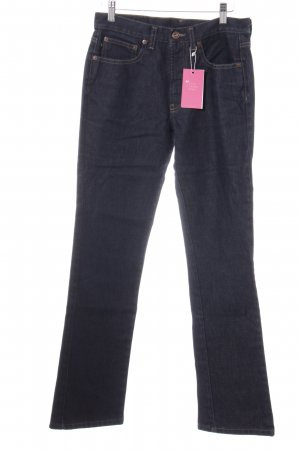 DKNY Straight-Leg Jeans dunkelblau Street-Fashion-Look