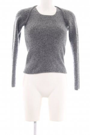 DKNY Knitted Twin Set light grey flecked casual look