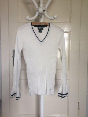 DKNY Haut tricotés blanc-noir viscose