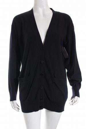 DKNY Strickjacke dunkelblau Casual-Look